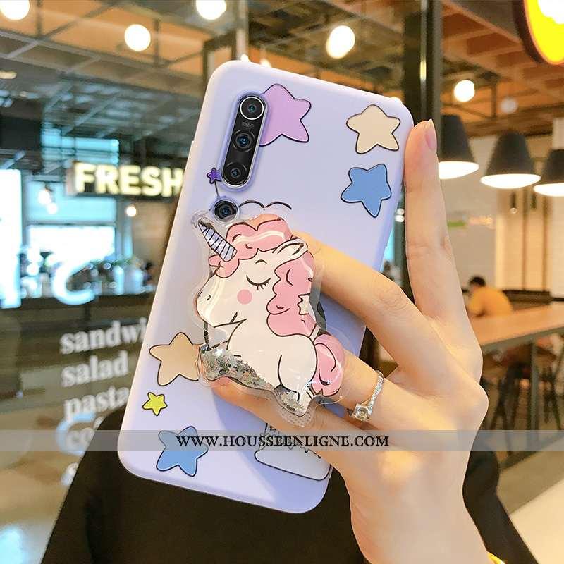 Étui Xiaomi Mi 10 Charmant Fluide Doux Silicone Coque Dessin Animé Bleu Quicksand