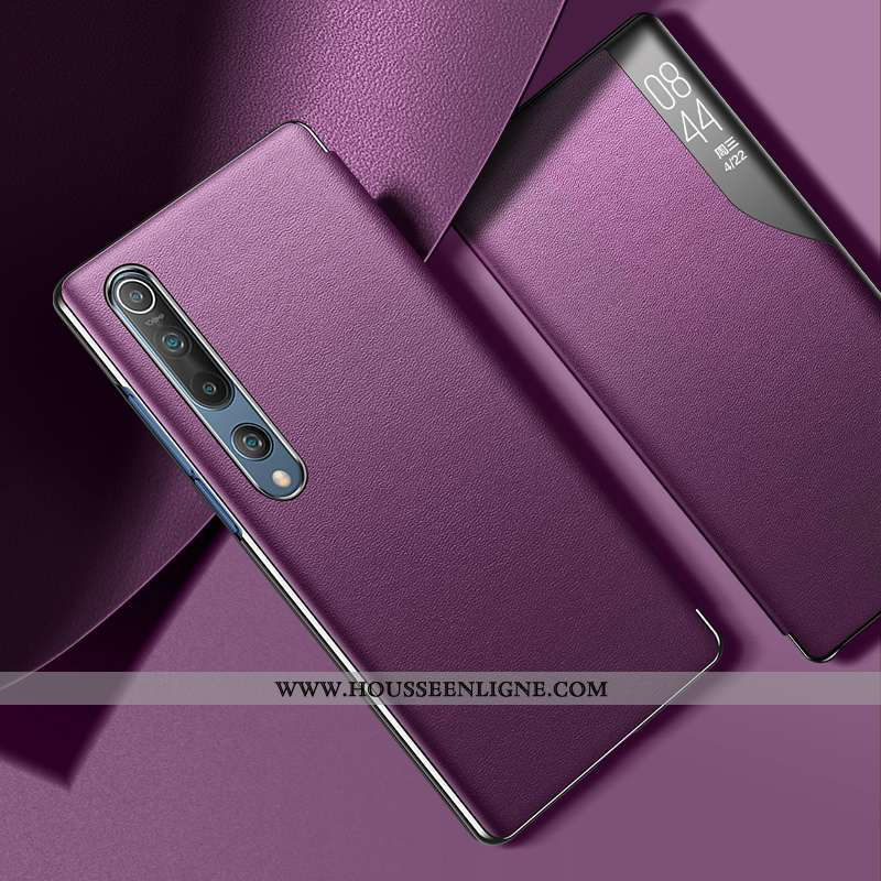 Étui Xiaomi Mi 10 Cuir Protection Petit Tendance Incassable Personnalité Ultra Violet