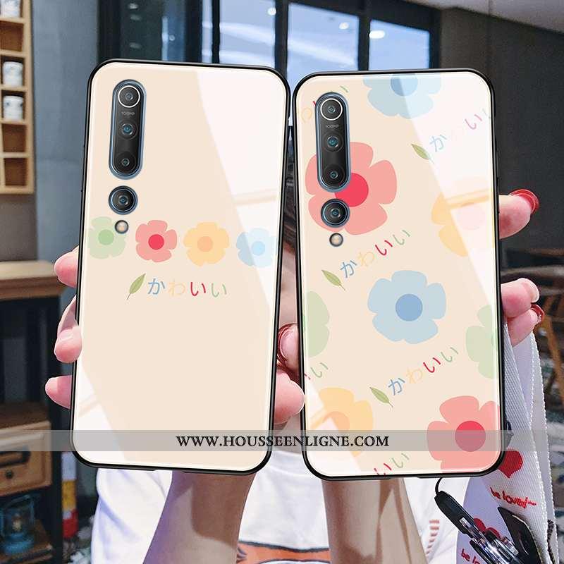 Étui Xiaomi Mi 10 Fluide Doux Silicone Téléphone Portable Rose Nouveau Protection