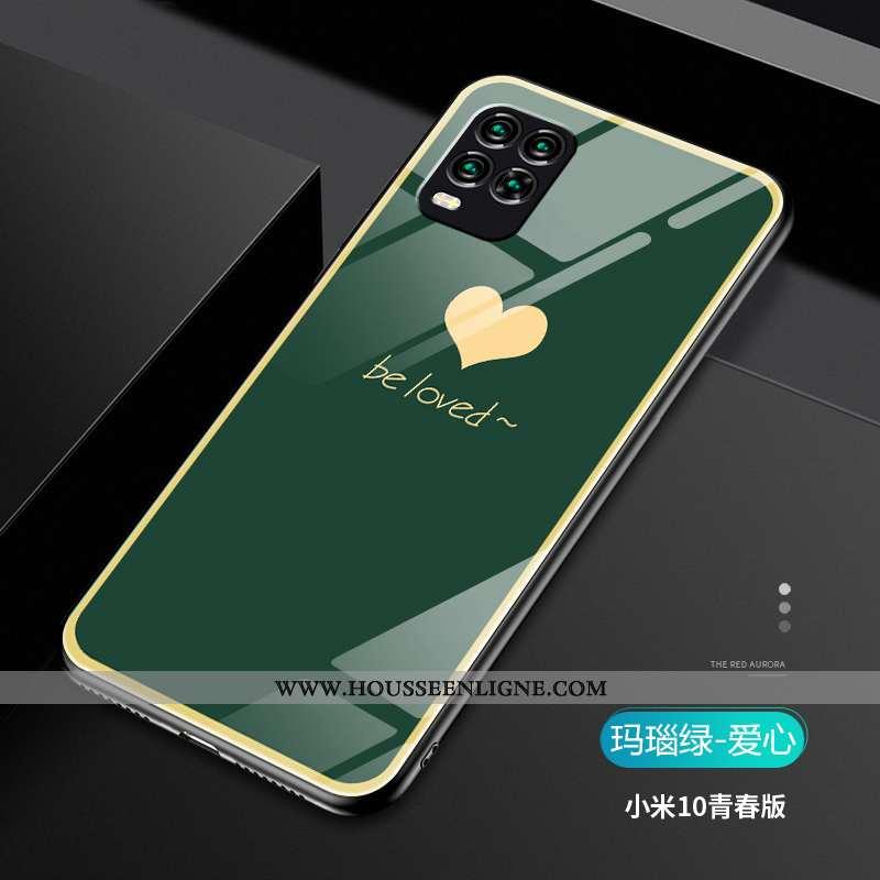 Étui Xiaomi Mi 10 Lite Créatif Ultra Nouveau Légère Tout Compris Tendance Verte