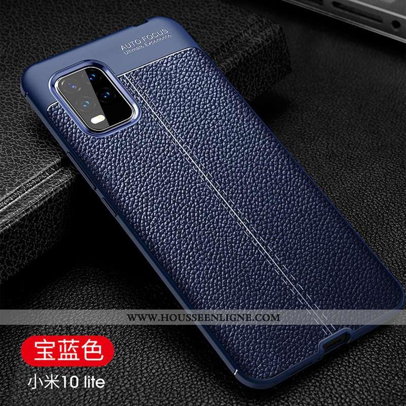 Étui Xiaomi Mi 10 Lite Fluide Doux Protection Refroidissement Business Jeunesse Luxe Bleu