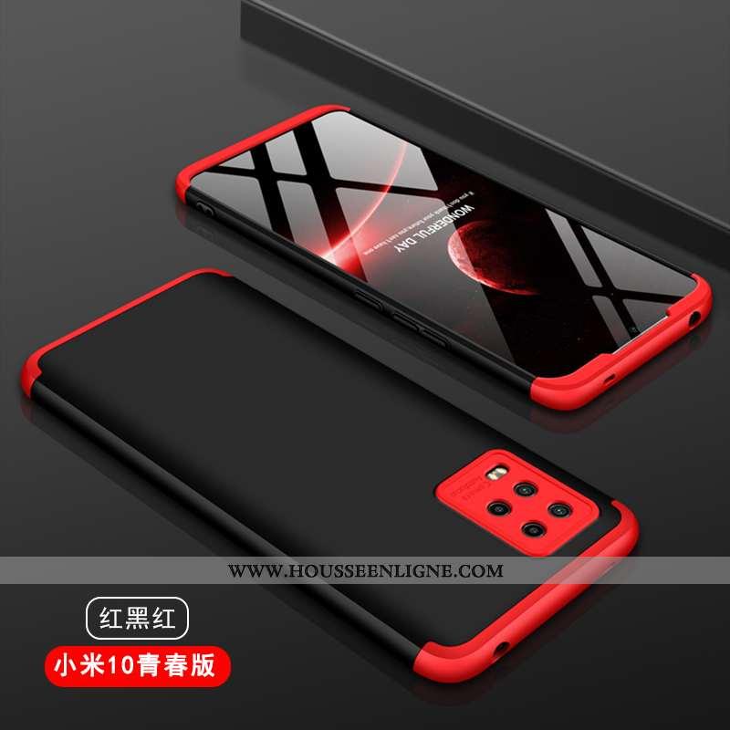 Étui Xiaomi Mi 10 Lite Protection Délavé En Daim Ultra Créatif Légère Rouge