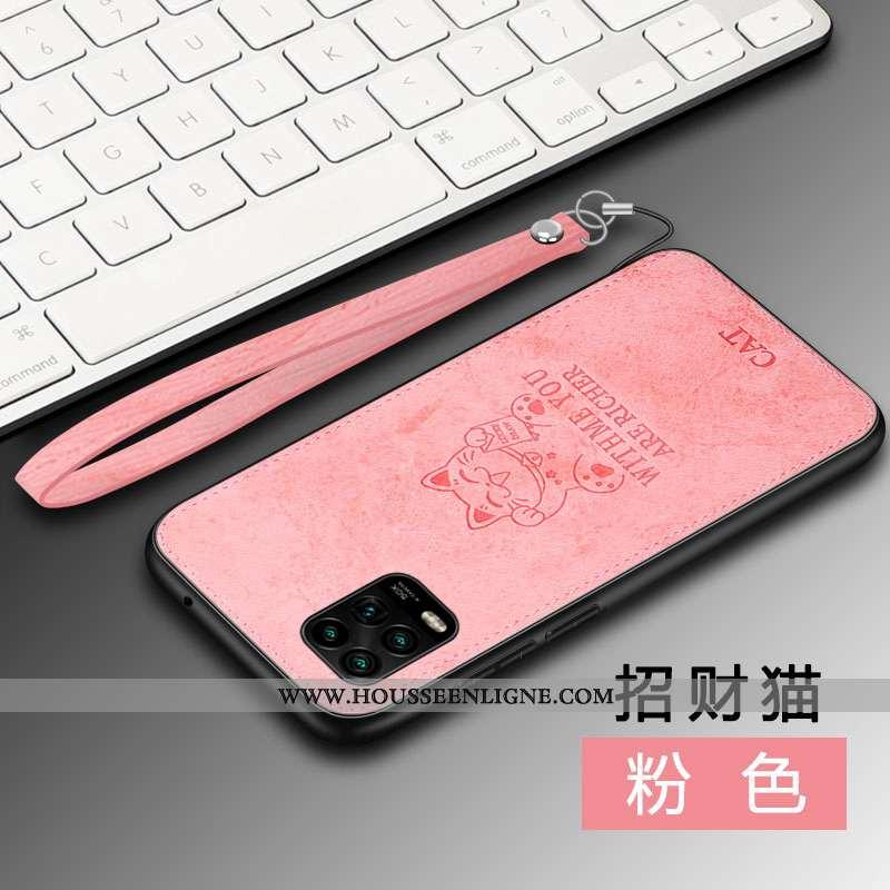 Étui Xiaomi Mi 10 Lite Protection Personnalité Petit Nouveau Modèle Fleurie À Bord Incassable Rose