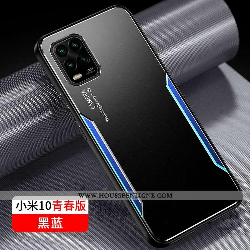 Étui Xiaomi Mi 10 Lite Ultra Légère Petit Tout Compris Métal Téléphone Portable Noir