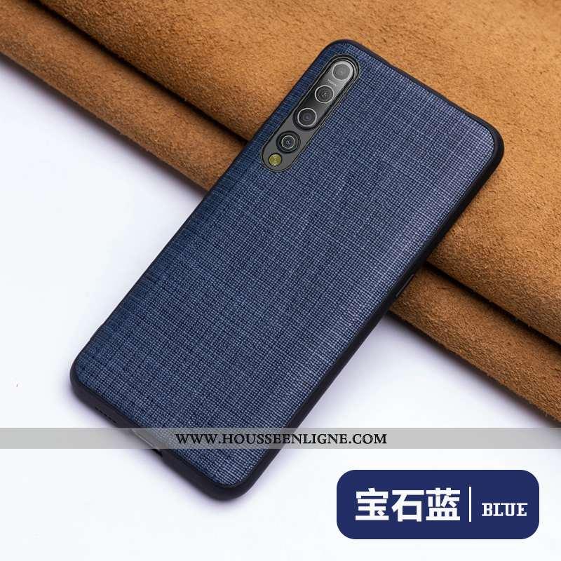 Étui Xiaomi Mi 10 Luxe Personnalité Business Créatif Difficile Ultra Coque Bleu Foncé