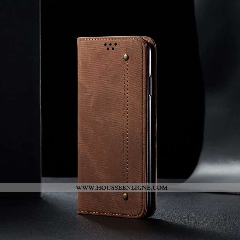 Étui Xiaomi Mi 10 Pro Cuir Silicone Tout Compris Housse Téléphone Portable Marron Petit