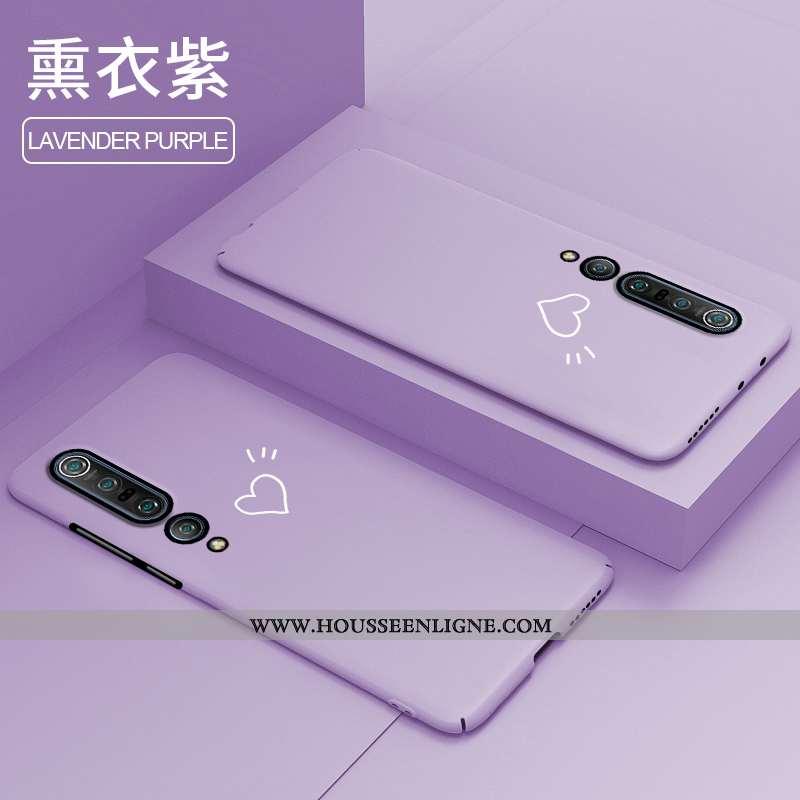 Étui Xiaomi Mi 10 Pro Légère Protection Personnalité Créatif Ultra Clair Délavé En Daim Violet