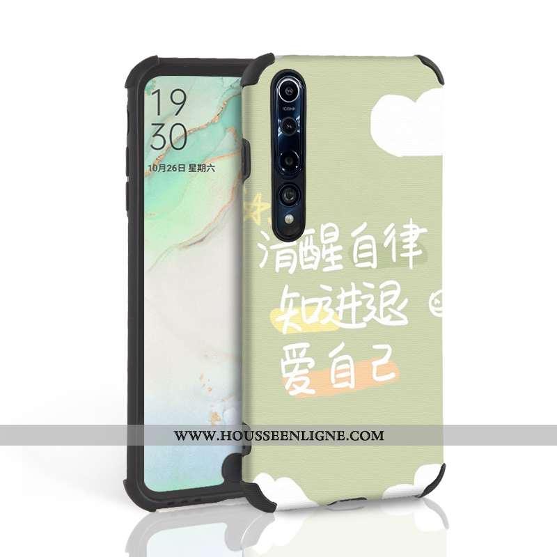 Étui Xiaomi Mi 10 Pro Légère Silicone Téléphone Portable Ultra Tout Compris Petit Coque Verte