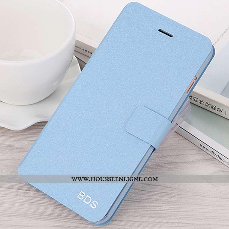 Étui Xiaomi Mi 10 Pro Mode Protection Bleu Coque Luxe Modèle Fleurie