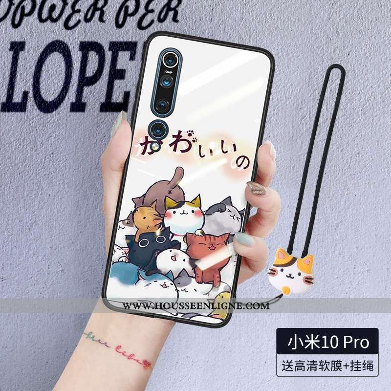 Étui Xiaomi Mi 10 Pro Silicone Protection Coque Téléphone Portable Ultra Petit Blanche