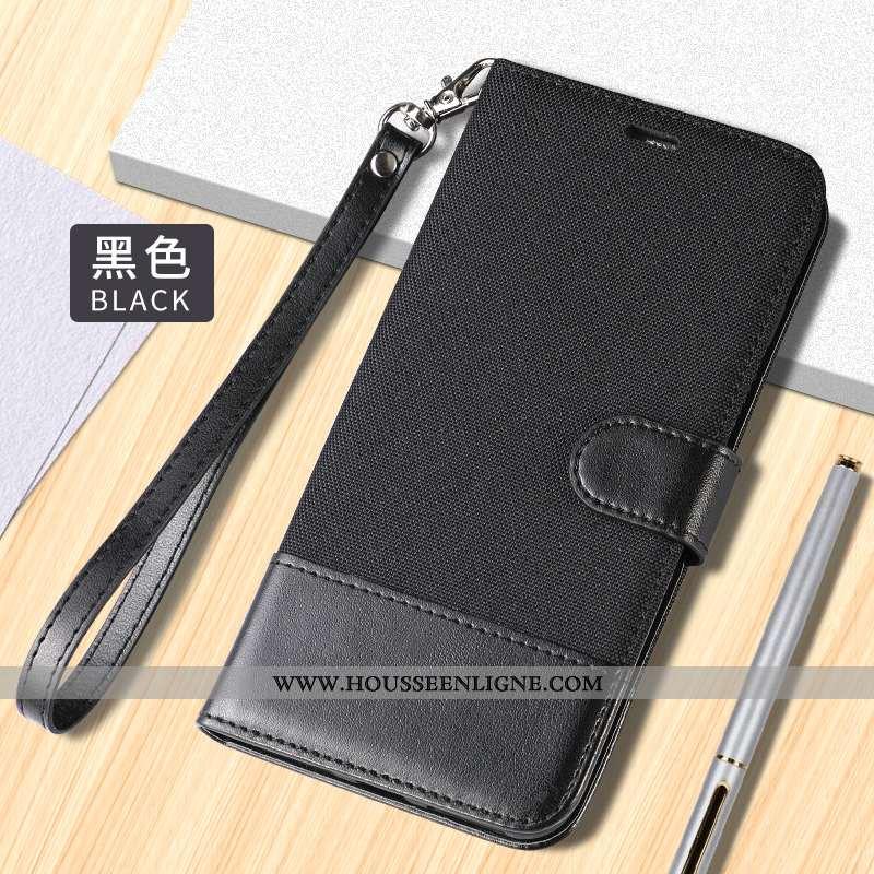 Étui Xiaomi Mi 10 Protection Cuir Noir Coque Tout Compris Clamshell