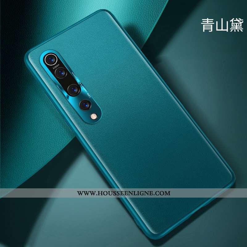 Étui Xiaomi Mi 10 Protection Délavé En Daim Jeunesse Luxe Cuir Personnalité Verte