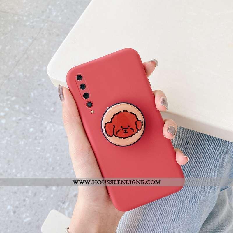 Étui Xiaomi Mi 10 Silicone Protection Téléphone Portable Dessin Animé Ultra Fluide Doux Chiens Rouge