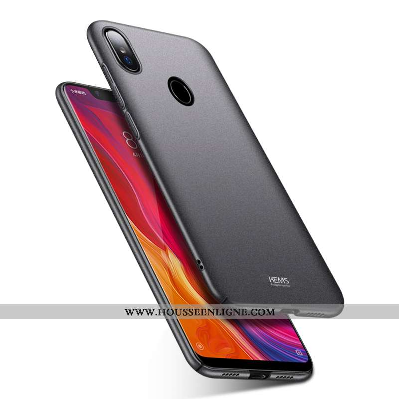 Étui Xiaomi Mi 8 Légère Protection Petit Difficile Ultra Jeunesse Coque Noir