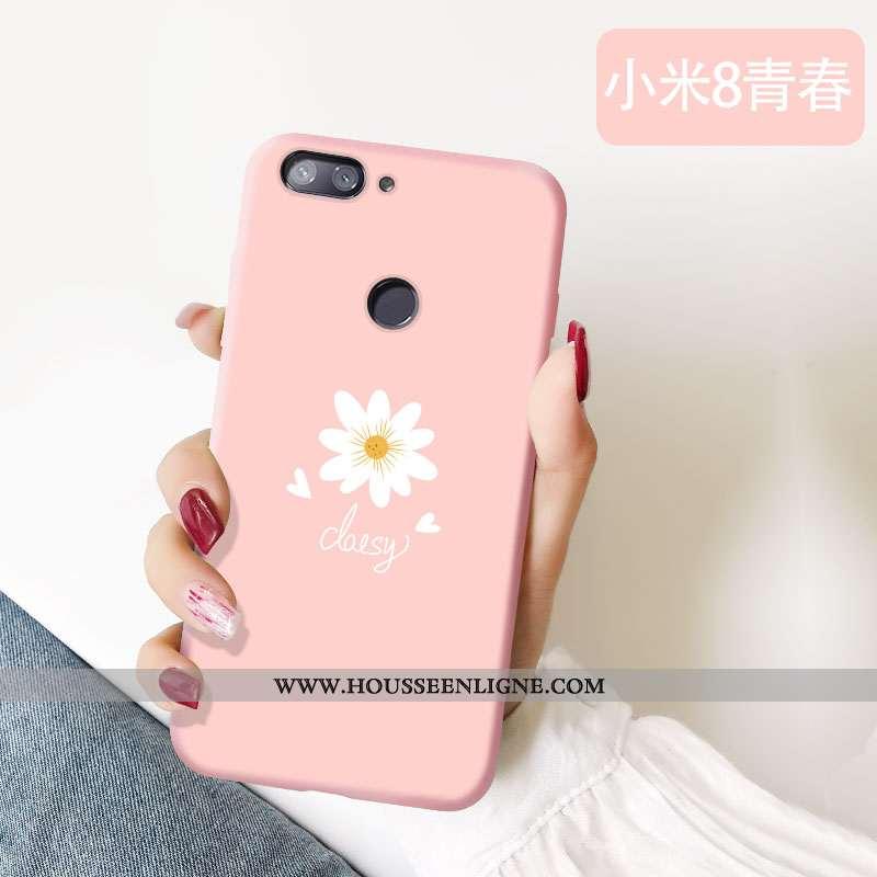 Étui Xiaomi Mi 8 Lite Personnalité Charmant Jeunesse Protection Délavé En Daim Légère Fluide Doux Ro