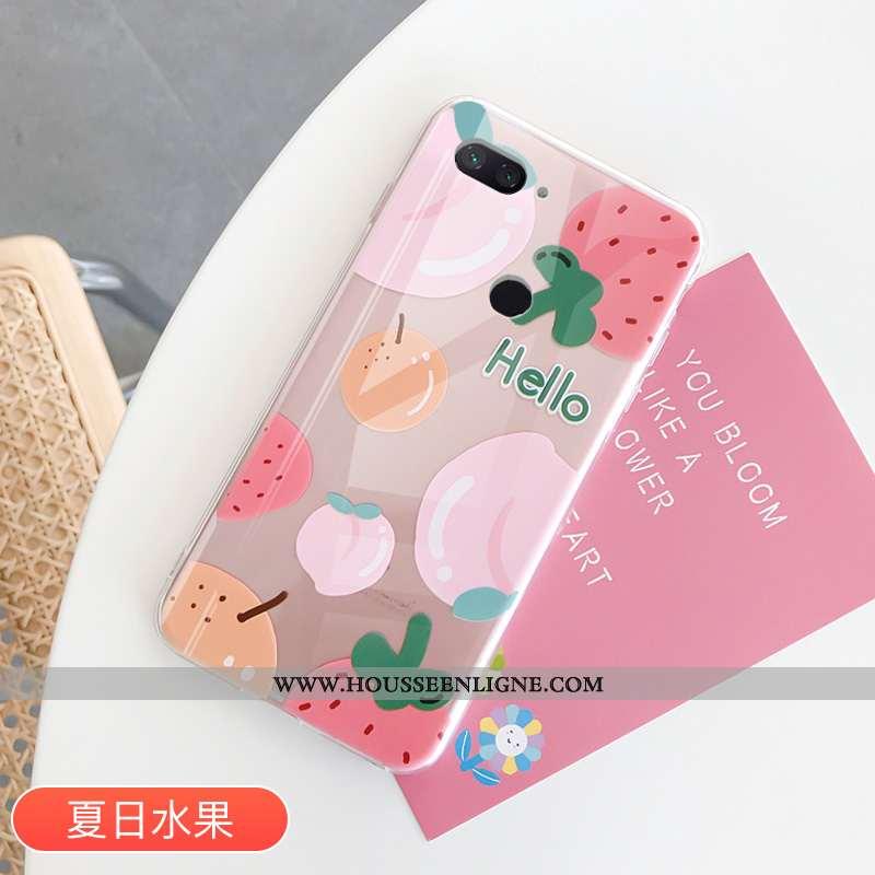 Étui Xiaomi Mi 8 Lite Protection Transparent Petit Rose Fruit Amoureux