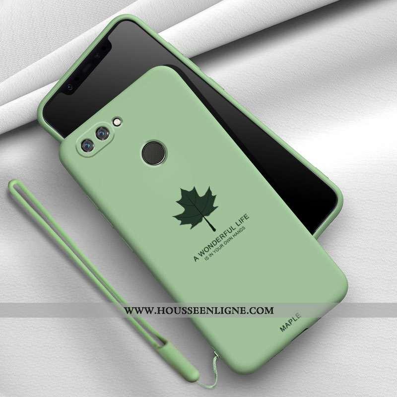 Étui Xiaomi Mi 8 Lite Silicone Mode Tendance Téléphone Portable Fluide Doux Délavé En Daim Verte