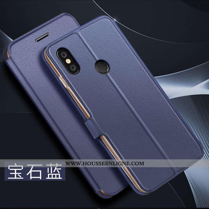Étui Xiaomi Mi 8 Modèle Fleurie Protection Coque Bleu Délavé En Daim Légère Jeunesse