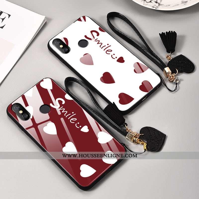 Étui Xiaomi Mi 8 Modèle Fleurie Silicone Amour Incassable Amoureux Ornements Suspendus Difficile Rou