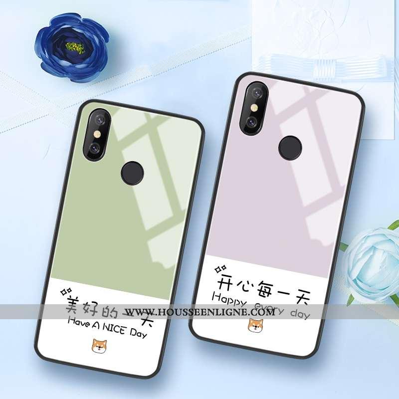 Étui Xiaomi Mi 8 Modèle Fleurie Silicone Vert Difficile Tout Compris Frais Coque Verte