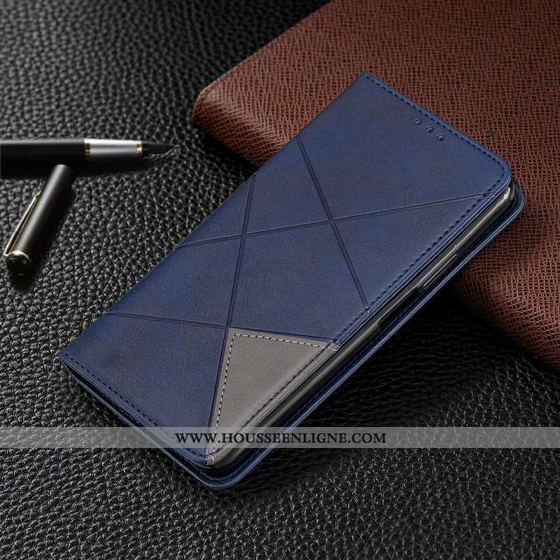Étui Xiaomi Mi 8 Pro Cuir Protection Automatique Carte Téléphone Portable Coque Bleu Foncé