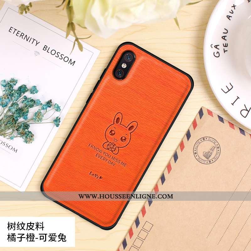 Étui Xiaomi Mi 8 Pro Tendance Cuir Coque Protection Tout Compris Nouveau Orange