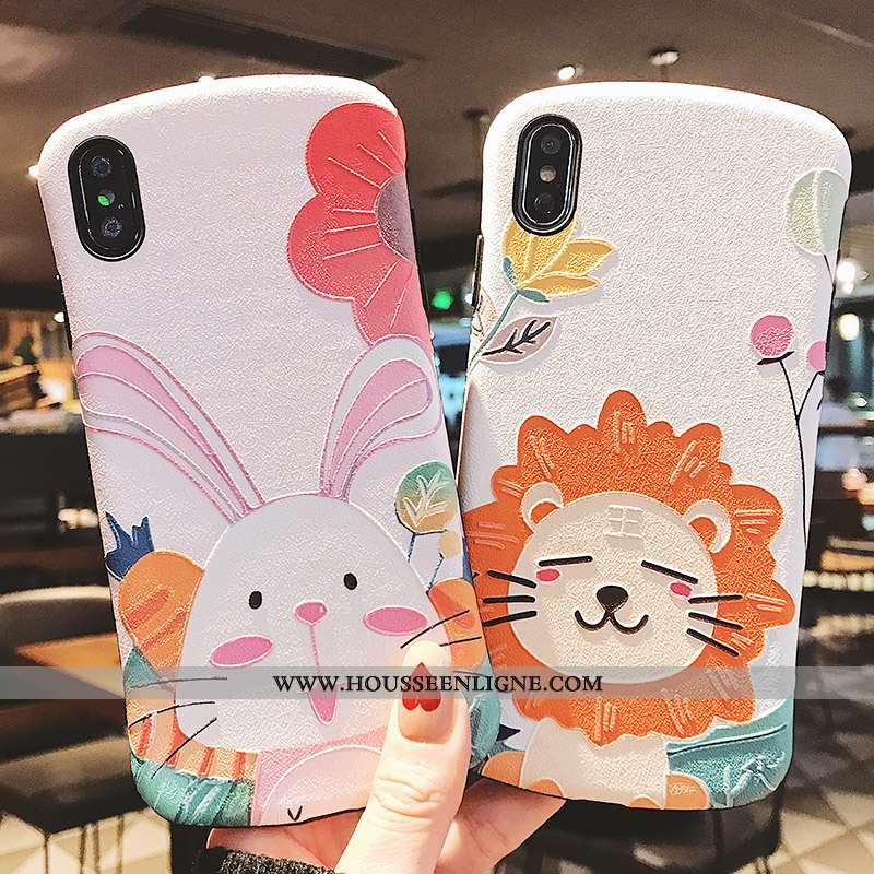 Étui Xiaomi Mi 8 Pro Tendance Fluide Doux Gaufrage Lion Téléphone Portable Créatif Coque Rose