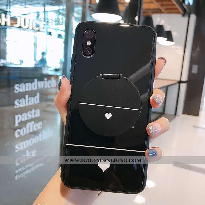 Étui Xiaomi Mi 8 Pro Verre Transparent Téléphone Portable Noir Simple Jeunesse
