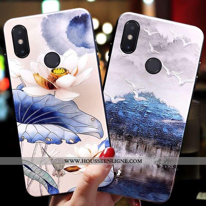 Étui Xiaomi Mi 8 Protection Ornements Suspendus Tendance Coque Tout Compris Petit Silicone Bleu
