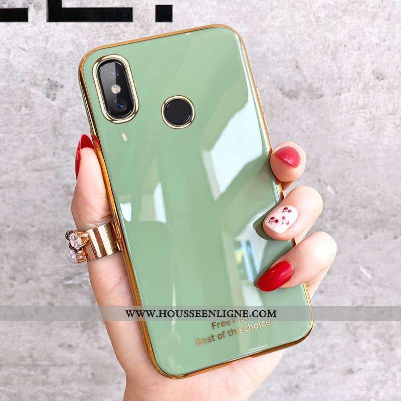 Étui Xiaomi Mi 8 Silicone Protection Téléphone Portable Créatif Modèle Fleurie Charmant Verte