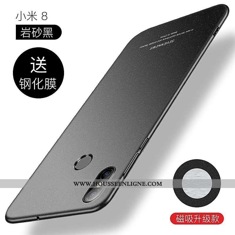 Étui Xiaomi Mi 8 Tendance Légère Petit Ultra Téléphone Portable Difficile Tout Compris Noir