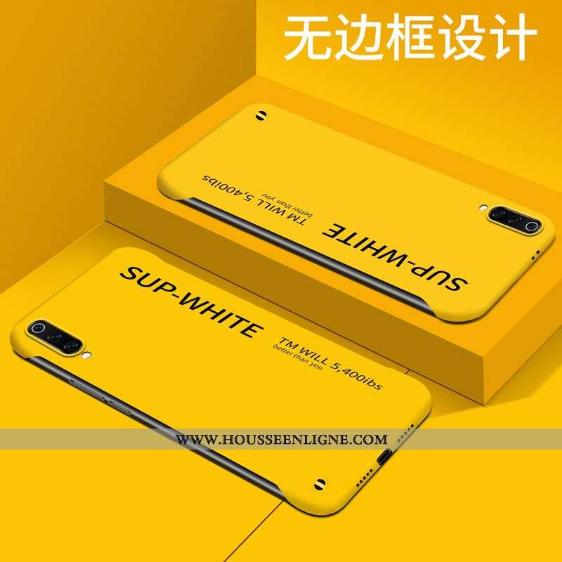 Étui Xiaomi Mi 9 Délavé En Daim Personnalité Clair Difficile Créatif Protection Simple Jaune