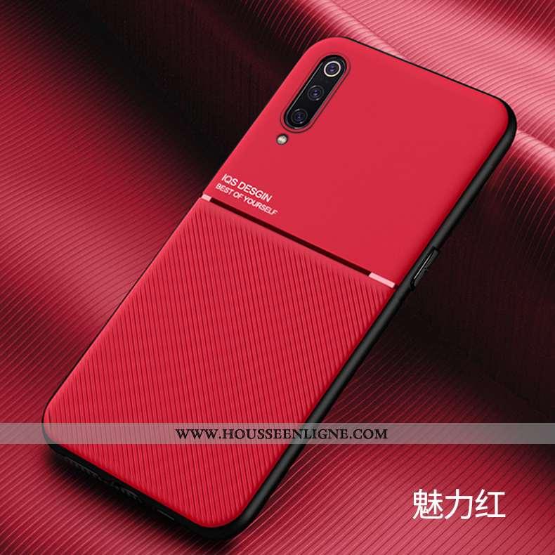Étui Xiaomi Mi 9 Délavé En Daim Personnalité Rouge Ultra Simple Légères
