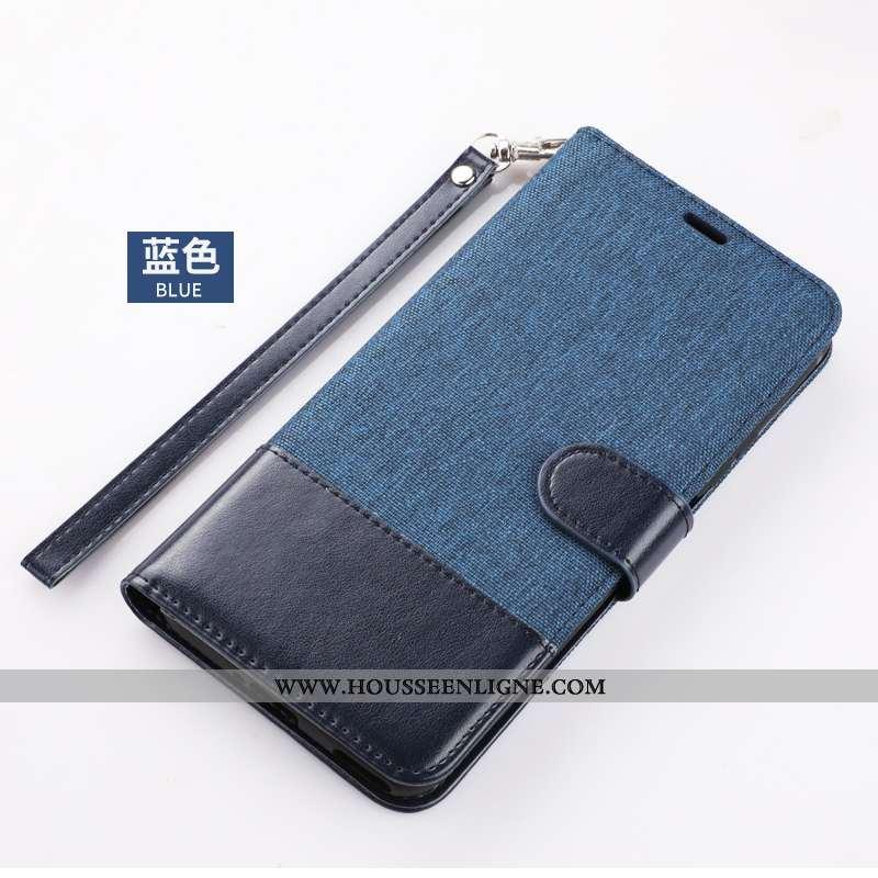 Étui Xiaomi Mi 9 Lite Cuir Housse Téléphone Portable Bleu Incassable Coque