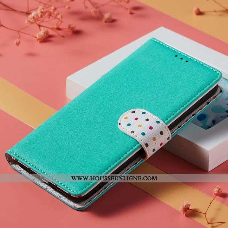 Étui Xiaomi Mi 9 Lite Cuir Véritable Fluide Doux Coque Petit Tout Compris Ornements Suspendus Bleu