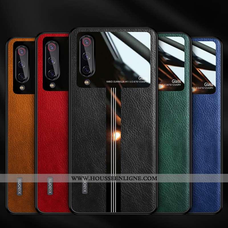 Étui Xiaomi Mi 9 Lite Fluide Doux Silicone Cuir Protection Ultra Téléphone Portable Noir