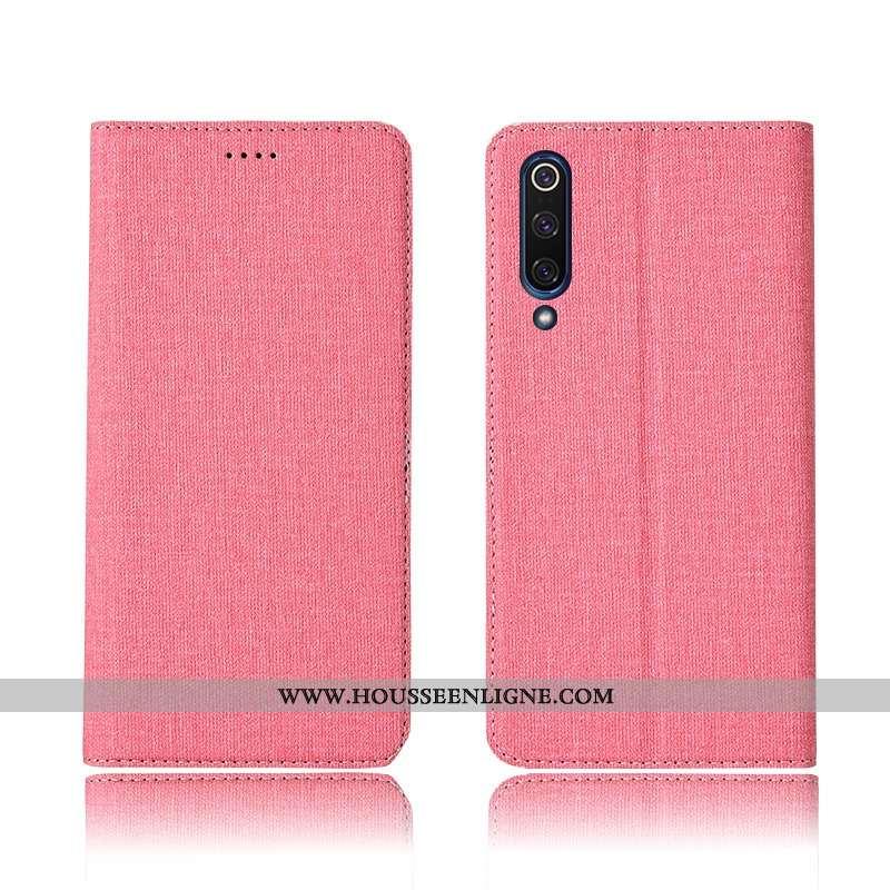 Étui Xiaomi Mi 9 Lite Silicone Protection Rose Téléphone Portable Lin Tout Compris