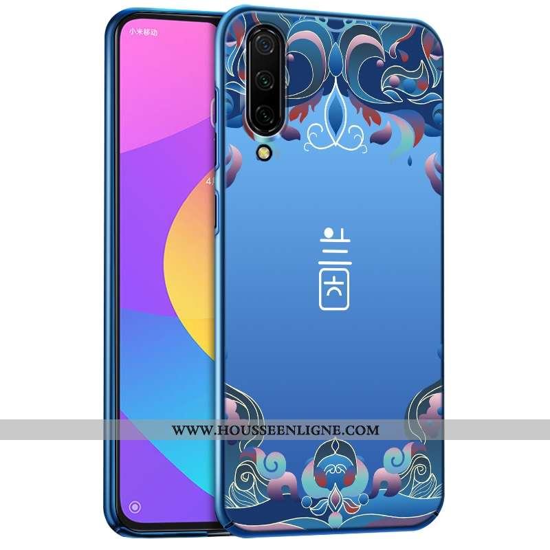 Étui Xiaomi Mi 9 Se Délavé En Daim Ultra Protection Petit Bleu Légère Coque