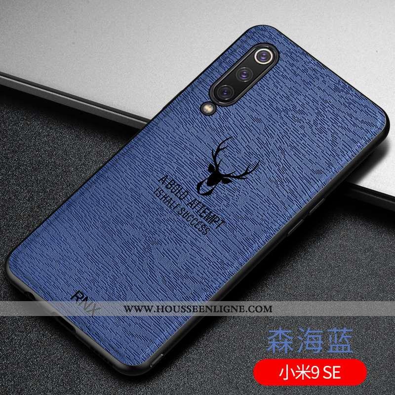 Étui Xiaomi Mi 9 Se Fluide Doux Silicone Tendance Téléphone Portable Créatif Nouveau Bleu