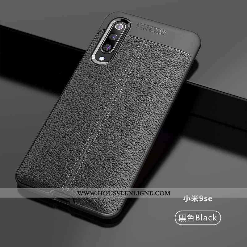 Étui Xiaomi Mi 9 Se Modèle Fleurie Protection Nouveau Personnalité Créatif Cuir Tendance Noir