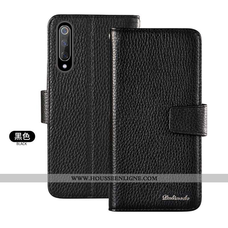 Étui Xiaomi Mi 9 Se Protection Cuir Véritable Carte Tout Compris Noir Petit