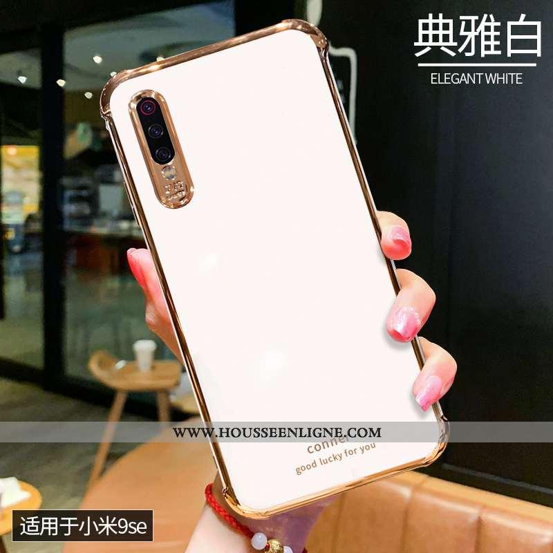 Étui Xiaomi Mi 9 Se Silicone Mode Personnalité Simple Téléphone Portable Créatif Nouveau Blanche