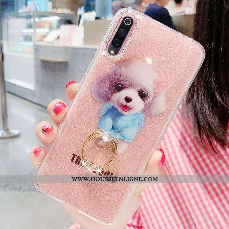 Étui Xiaomi Mi 9 Se Silicone Protection Coque Rose Net Rouge Tout Compris