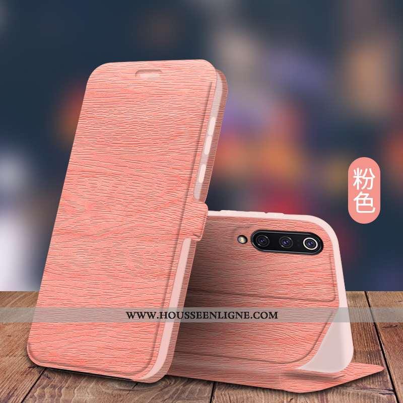 Étui Xiaomi Mi 9 Se Silicone Protection Cuir Tendance Modèle Fleurie Business Rose