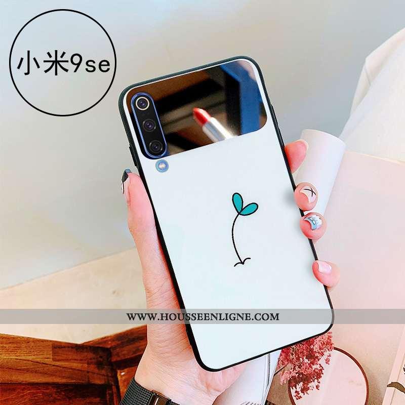 Étui Xiaomi Mi 9 Se Verre Personnalité Petit Net Rouge Coque Simple Téléphone Portable Blanche