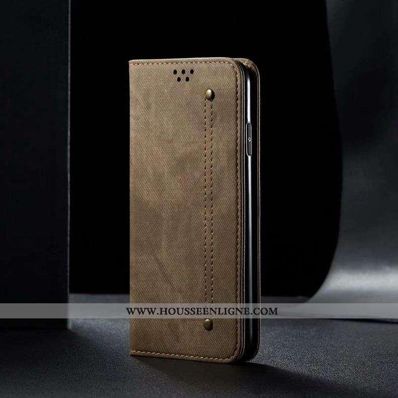 Étui Xiaomi Mi 9t Cuir Protection Téléphone Portable Housse Petit Coque Marron