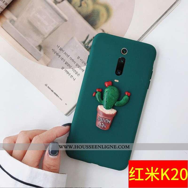 Étui Xiaomi Mi 9t Personnalité Créatif Téléphone Portable Tout Compris Rouge Charmant Petit Verte