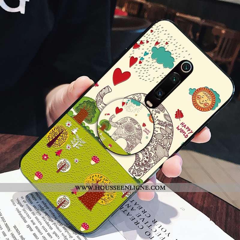 Étui Xiaomi Mi 9t Pro Dessin Animé Charmant Fluide Doux Téléphone Portable Petit Frais Support Verte