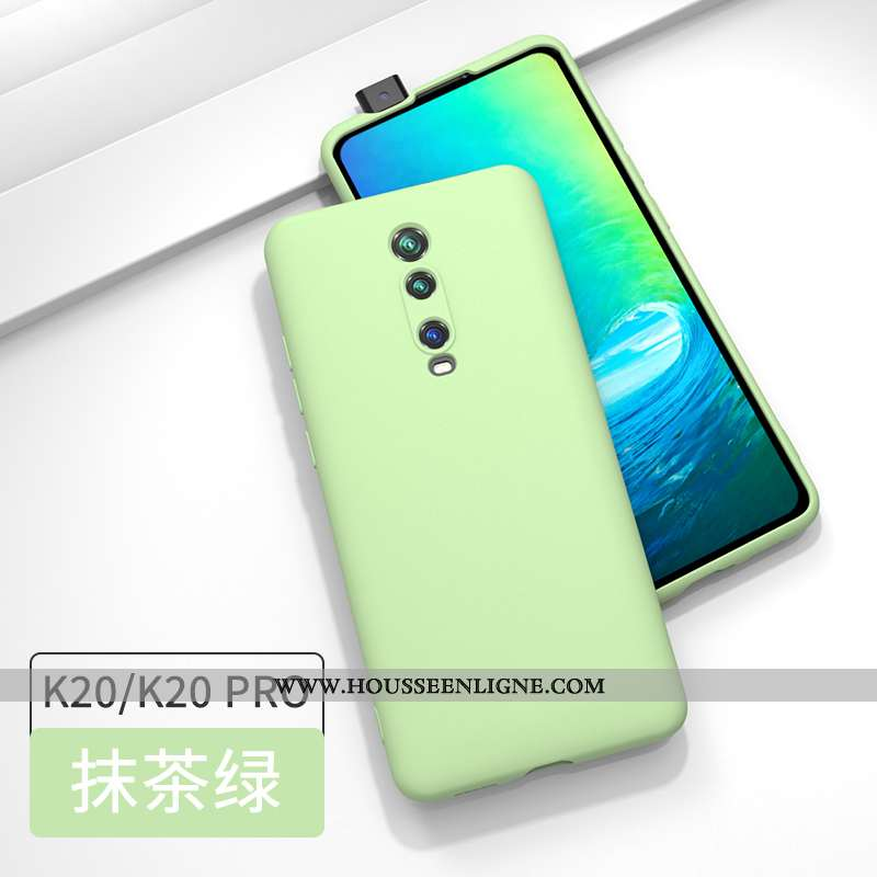 Étui Xiaomi Mi 9t Pro Fluide Doux Silicone Rouge Protection Petit Incassable Tout Compris Verte