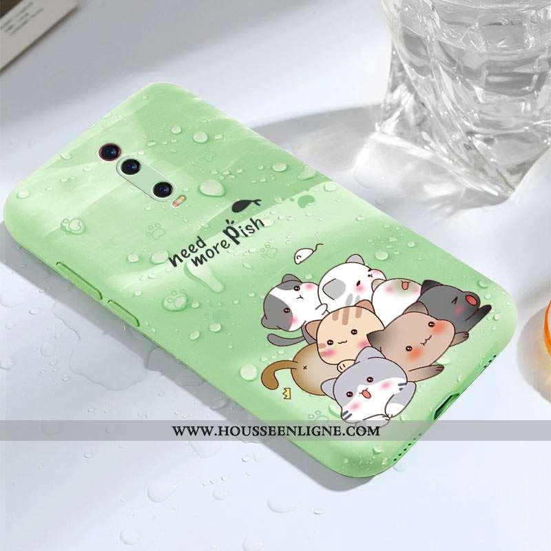 Étui Xiaomi Mi 9t Pro Légère Fluide Doux Ultra Téléphone Portable Personnalité Créatif Coque Verte